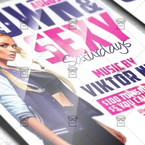 Download Grown and Sexy PSD Flyer Template Now