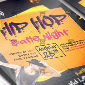 Download Hip Hop Night PSD Flyer Template Now