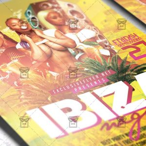 Download Ibiza Night PSD Flyer Template Now