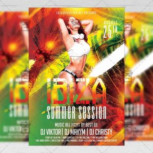 Download Ibiza Summer Session PSD Flyer Template Now