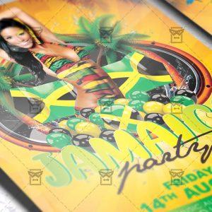 Download Jamaica Party PSD Flyer Template Now