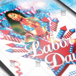 Download Labor Day PSD Flyer Template Now
