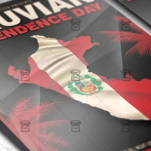 Download Peruvian Independence Day PSD Flyer Template Now