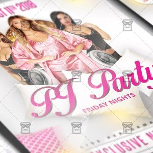 Download Pj Party PSD Flyer Template Now