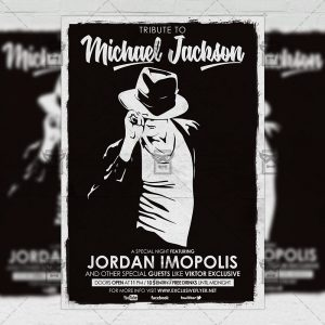 Download Tribute to Michael Jackson PSD Flyer Template Now