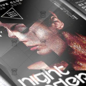 Download Under My Skin Night PSD Flyer Template Now