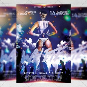 Download White Night PSD Flyer Template Now