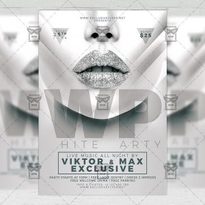 Download White Party PSD Flyer Template Now