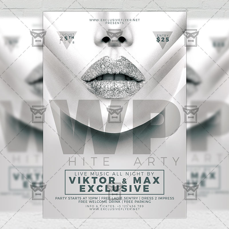 White Party Club A5 Flyer Template Exclsiveflyer Free And