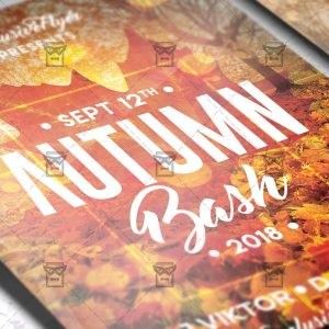 Download Autumn Bash PSD Flyer Template Now