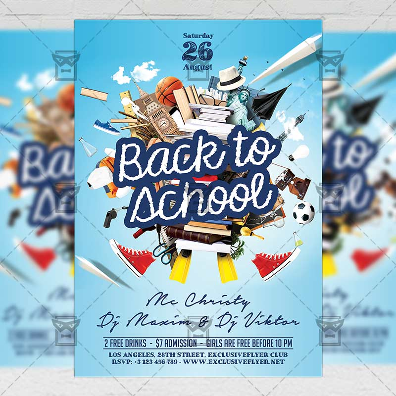Back To School Psd Flyer Template Now