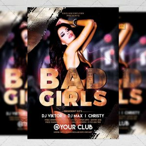 Download Bad Girls PSD Flyer Template Now