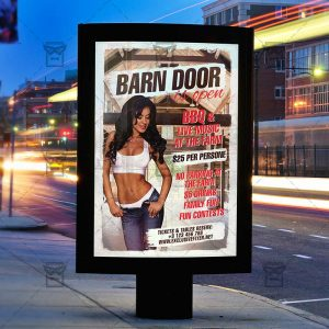 Download Barn Doors is Open PSD Flyer Template Now
