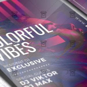 Download Colorful Vibes PSD Flyer Template Now