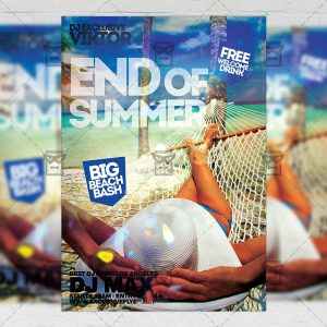 Download End of Summer PSD Flyer Template Now