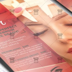 Download Eyebrow Microblading PSD Flyer Template Now