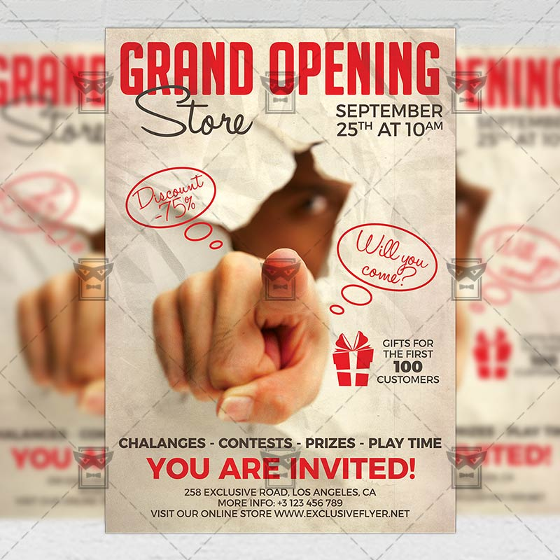 Grand Opening Flyer Club A5 Template Exclsiveflyer Free And