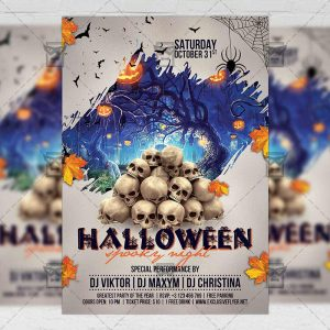 Download Halloween Spooky Night PSD Flyer Template Now