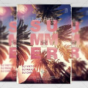 Download Last Summer Party PSD Flyer Template Now