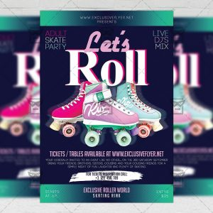 Download Let's Roll PSD Flyer Template Now
