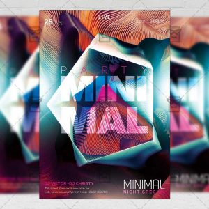 Download Minimal Party PSD Flyer Template Now