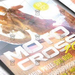 Download Moto Cross 2018 PSD Flyer Template Now