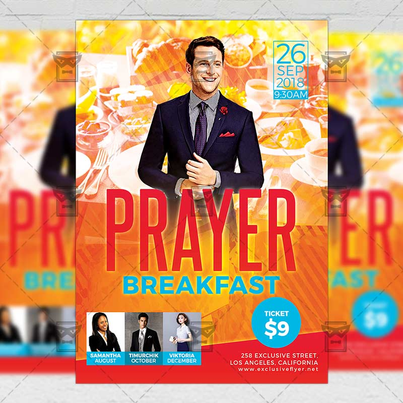 prayer breakfast flyer church a5 template exclsiveflyer free