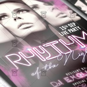 Download Rhythm of the Night PSD Flyer Template Now