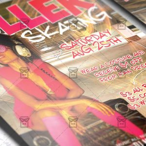 Download Roller Skating PSD Flyer Template Now