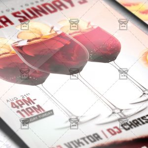 Download Sangria Sundays PSD Flyer Template Now