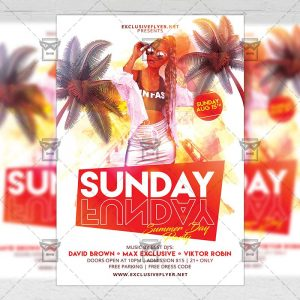 Download Sunday Funday PSD Flyer Template Now