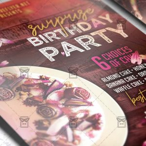 Download Surprise Birthday Party PSD Flyer Template Now