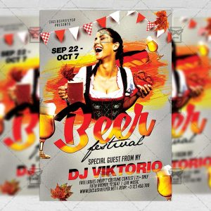 Download Beer Festival PSD Flyer Template Now