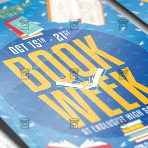 Download Book Week PSD Flyer Template Now