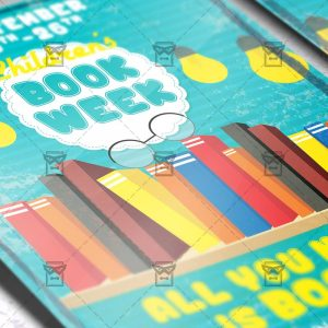 Download Children's Book Week PSD Flyer Template Now