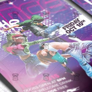 Download Dance Battle PSD Flyer Template Now