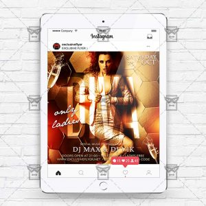 Download Diva Party PSD Instagram Flyer Template Now