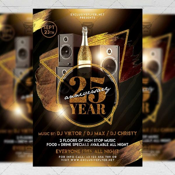 Download Exclusive Birthday Party PSD Flyer Template Now