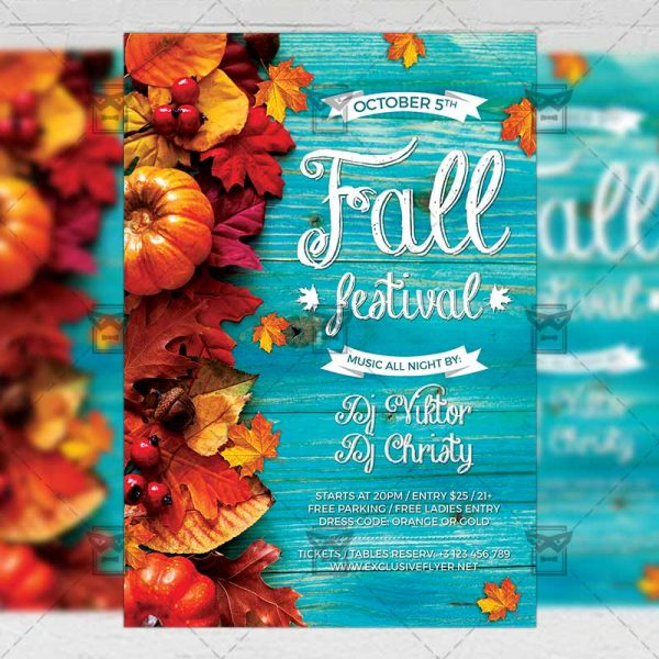 Download Fall Festival PSD Flyer Template Now