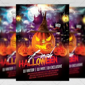 Download Halloween Bash PSD Flyer Template Now