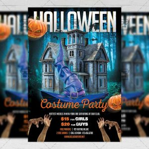 Download Halloween Costume Party PSD Flyer Template Now