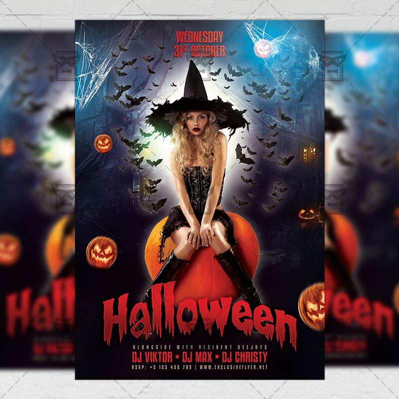 Halloween Flyer Seasonal A5 Template Exclsiveflyer Free And