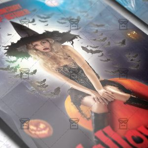 Download Halloween PSD Flyer Template Now