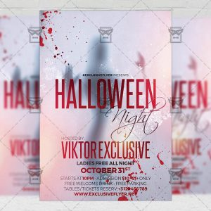 Download Halloween Night PSD Flyer Template Now