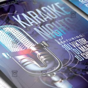 Download Karaoke Nights PSD Flyer Template Now