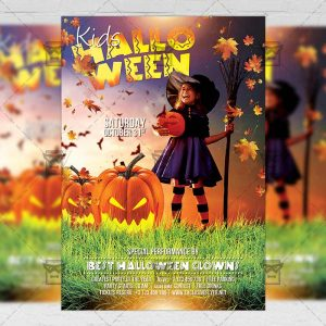 Download Kids Halloween PSD Flyer Template Now