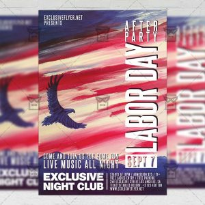 Download Labor Day After Party PSD Flyer Template Now
