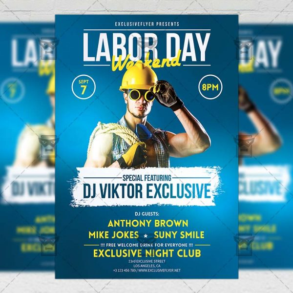 Download Labor Day Weekend Celebration PSD Flyer Template Now