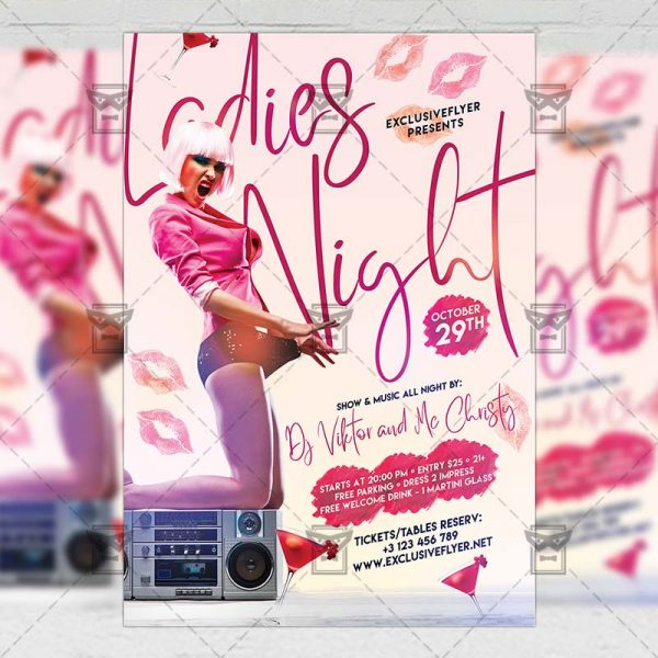 Download Ladies Night PSD Flyer Template Now