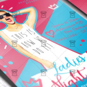 Download Ladies Night Out PSD Flyer Template Now